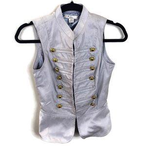 Forever 21 Gray Military Vest Sz S